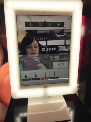 Macy's Cosmetics Department Leads The High Tech Beauty Brigade With YouCam (A Virtual Makeup Testing Device)! Go Try It Now!