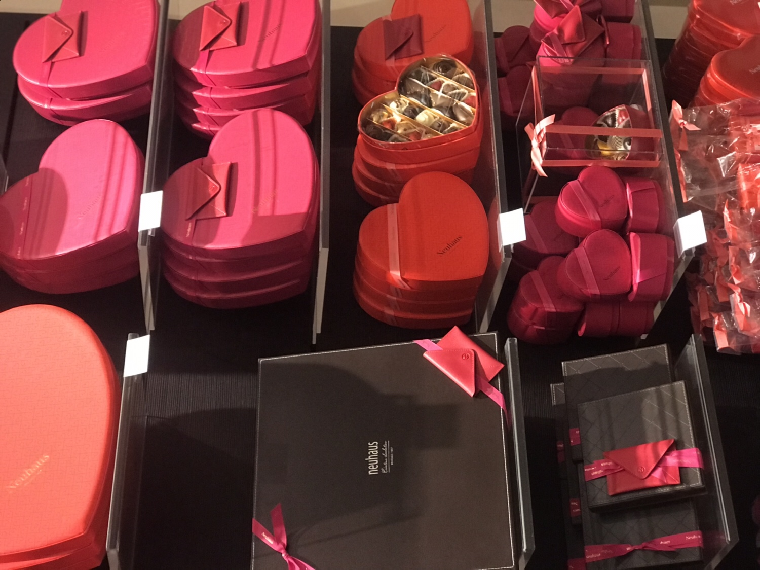 I was lucky enough to get to go to an in-store preview of Neuhaus  Chocolates' endless line of Valentine's Day packages at their 500 Madison  Avenue stop.